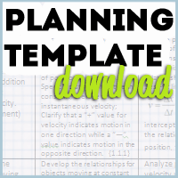 Planning Template Button