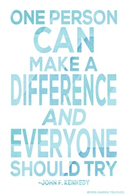 Mrs-Harris-Teaches-Heart-Make-A-Difference-All-Blue-Poster