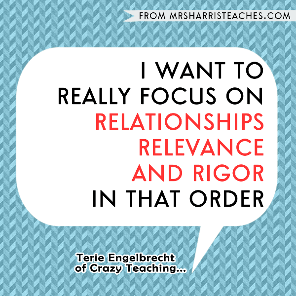 creating relationships rigor and relevance to teach Developing a learning classroom: moving beyond management through relationships, relevance, and rigor [ned a cooper, betty k garner] on amazoncom free shipping.