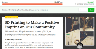 DonorsChoose-FullyFunded-3dPrinters